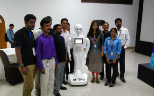 Mitra of Invento with exhibitors
